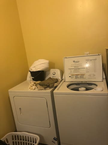 Laundry accessible to those who pay for a full day $15 fee.