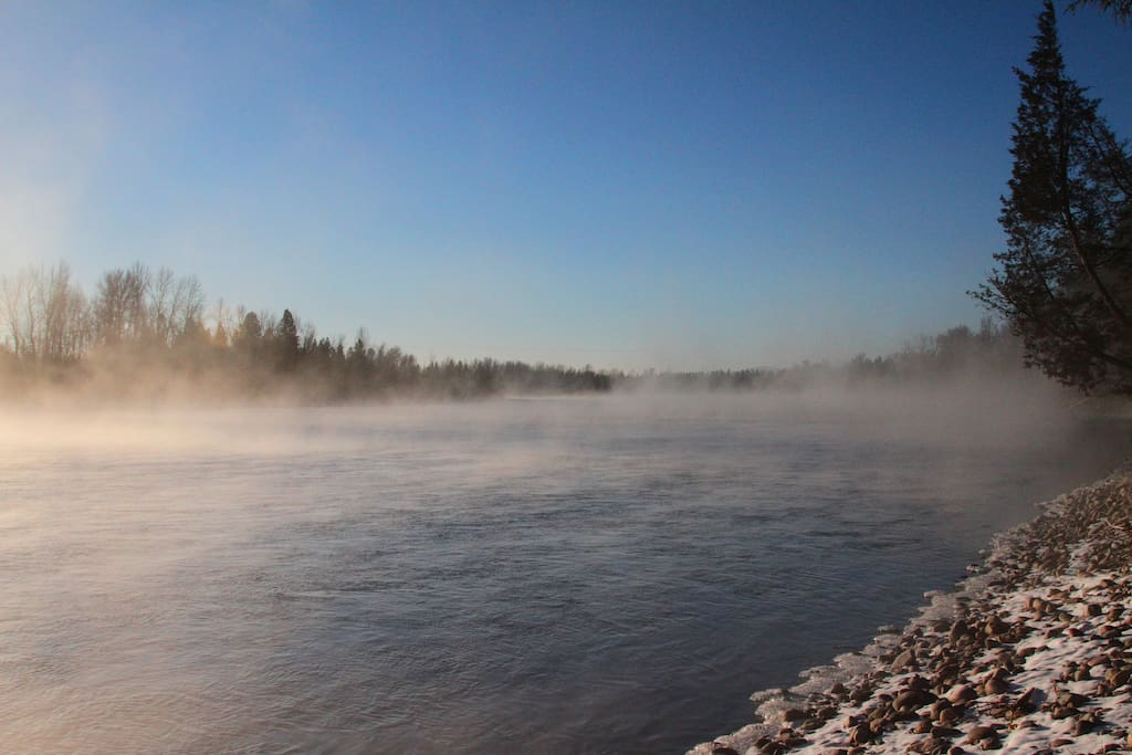Mist on the Flathead  during a winter morning.