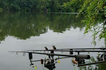 La pêche au bord du Lot, le paradis - Trentels - Lain-lain