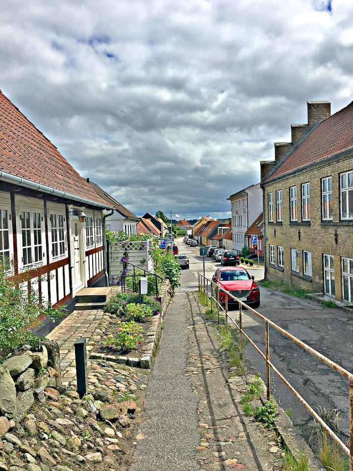 Old Danish town house with private garden