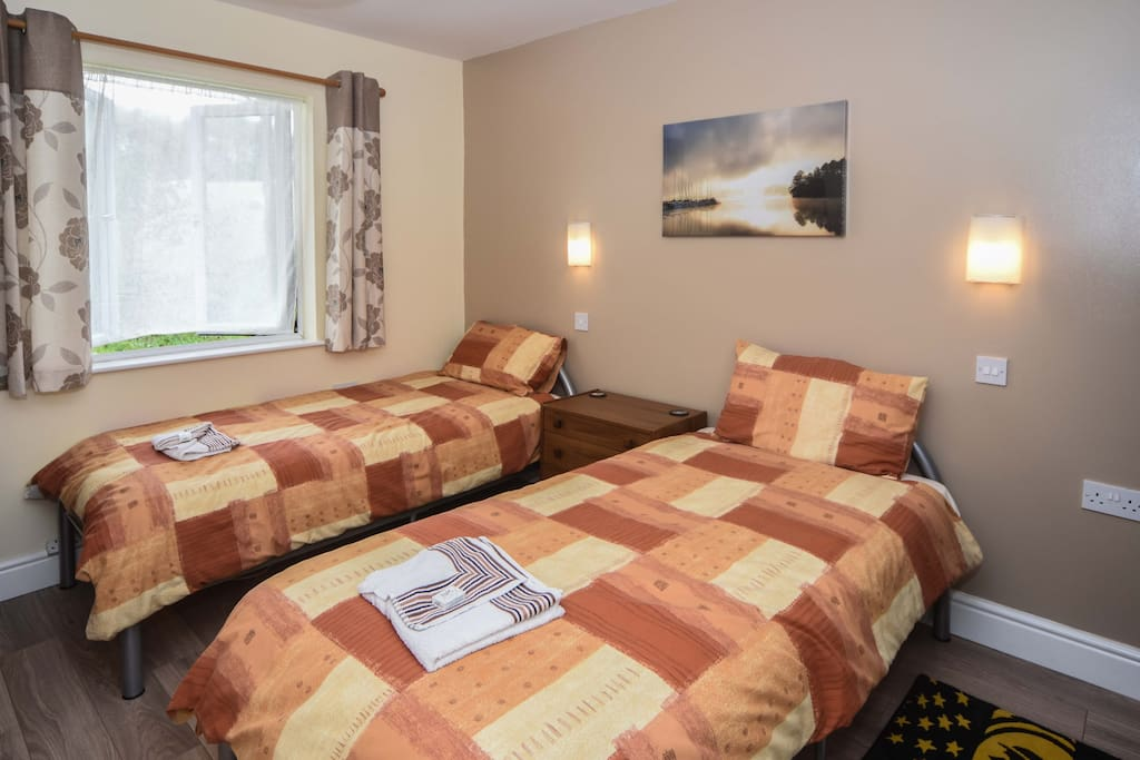 The twin room at Grey Alders
