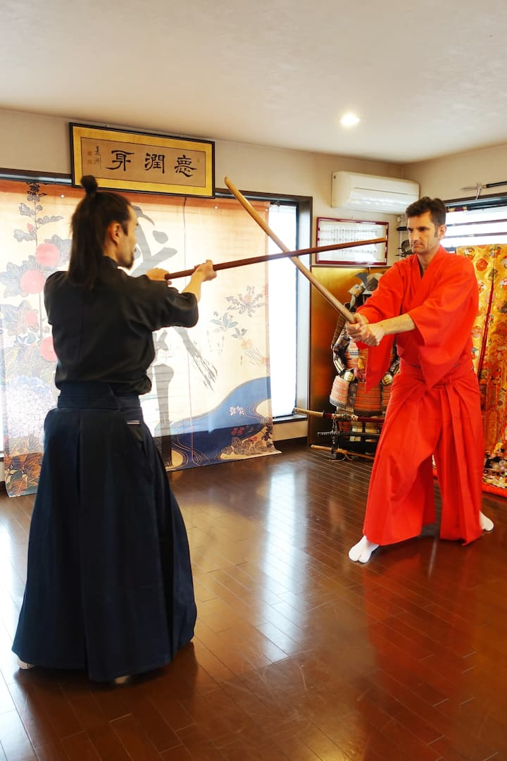Wooden sword lesson