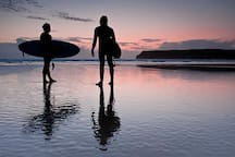 Enjoy the colours and tranquility on an evening surf