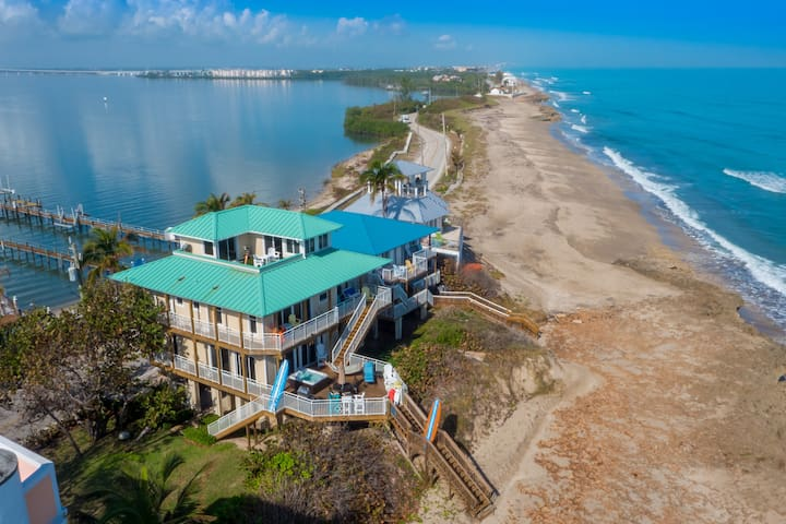 """The Ocean-to-River Beach-House Resort combines three beach houses -- """"As Good as it Gets"""", """"Heaven Can't Wait"""" and """"Carpe Diem""""  -- into one easy-to-book, price-discounted listing.  For details, photos and reviews of each  house, please visit the home's individual AirBnB listing."""