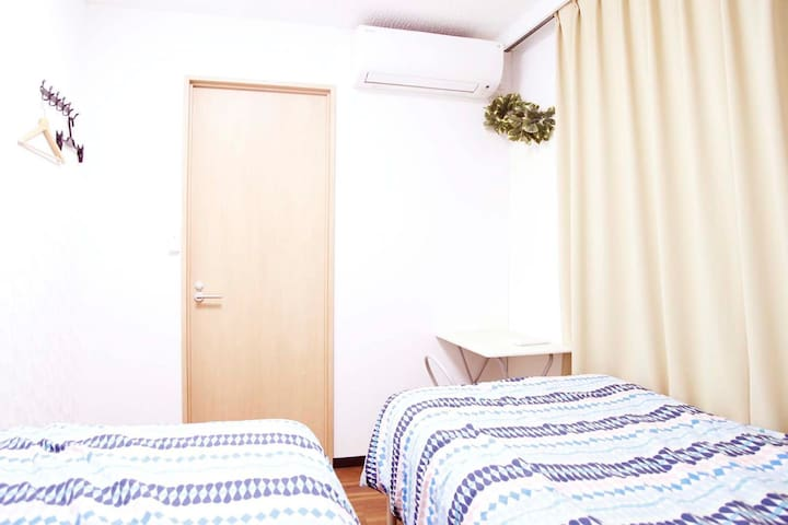 401三ノ輪5 mins,separate bedroom, aircon, Wi-Fi