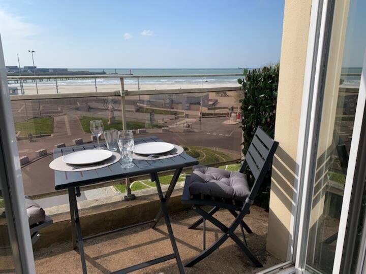 Très joli appartement face à la plage