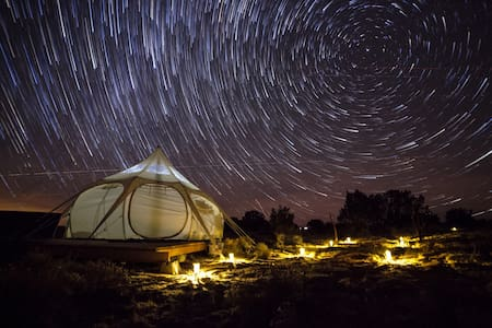 Glamp like a pro in the Lotus Yurt