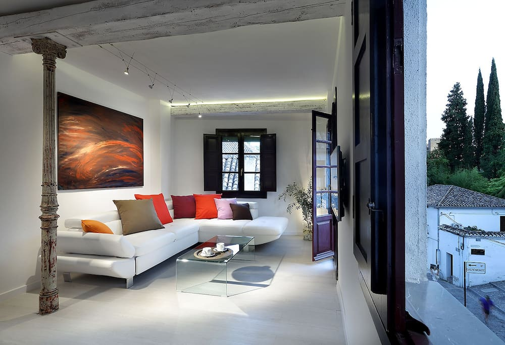 Open and bright living room