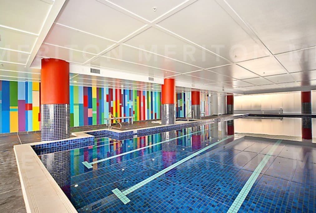 Impressive indoor pool, gym, jacuzzi and sauna...