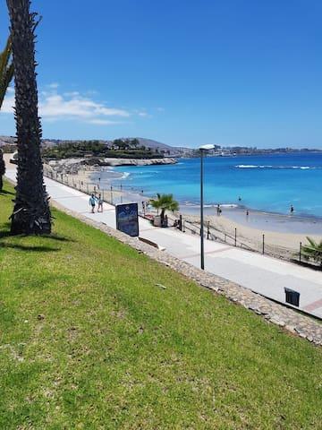 Beautiful apartment front line of El Duque beach