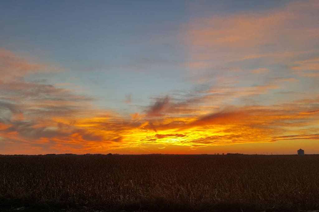 Beautiful Nebraska sunset a nightly show from our house.