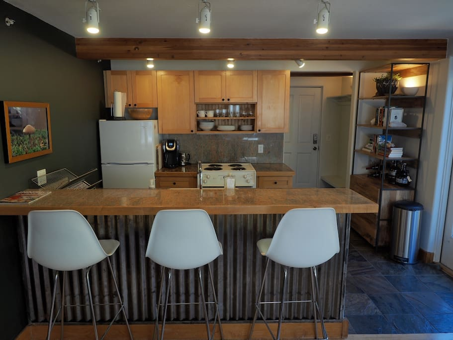 Kitchen and dining counter