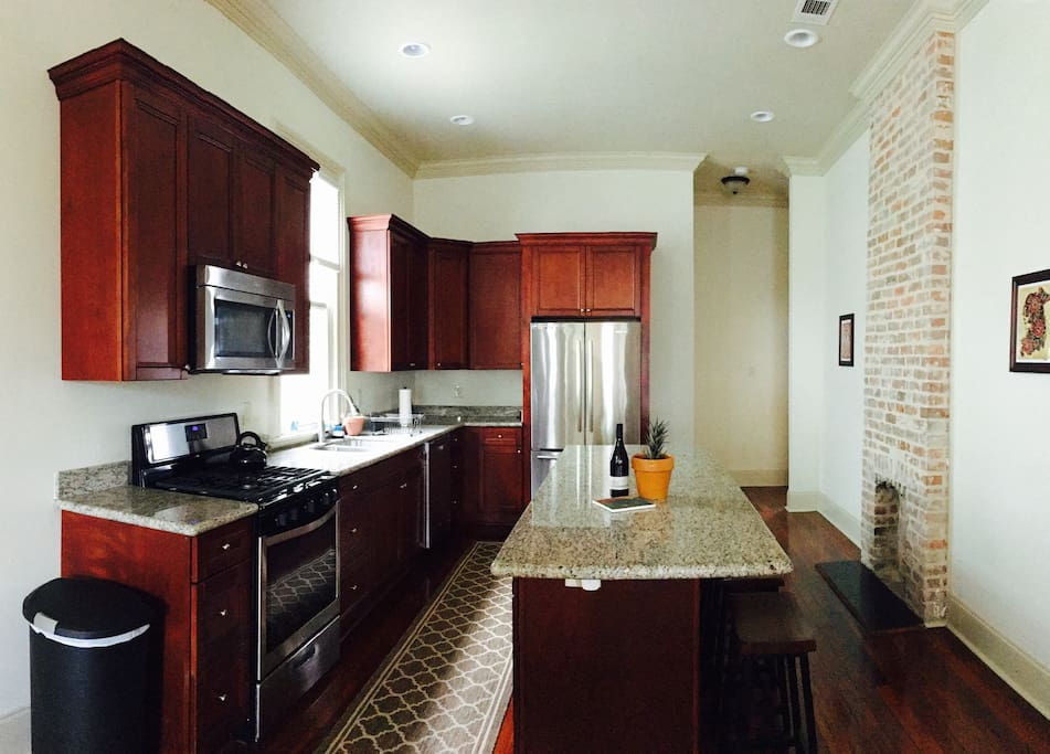 Beautiful updated kitchen with new appliances and granite counters.