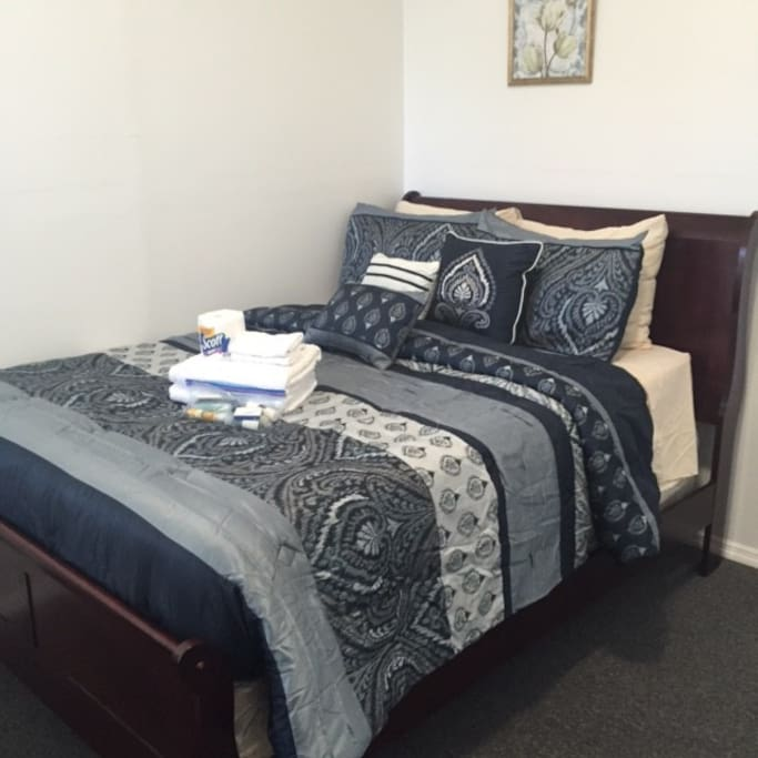 Full size bed 32 inch TV  Room #2