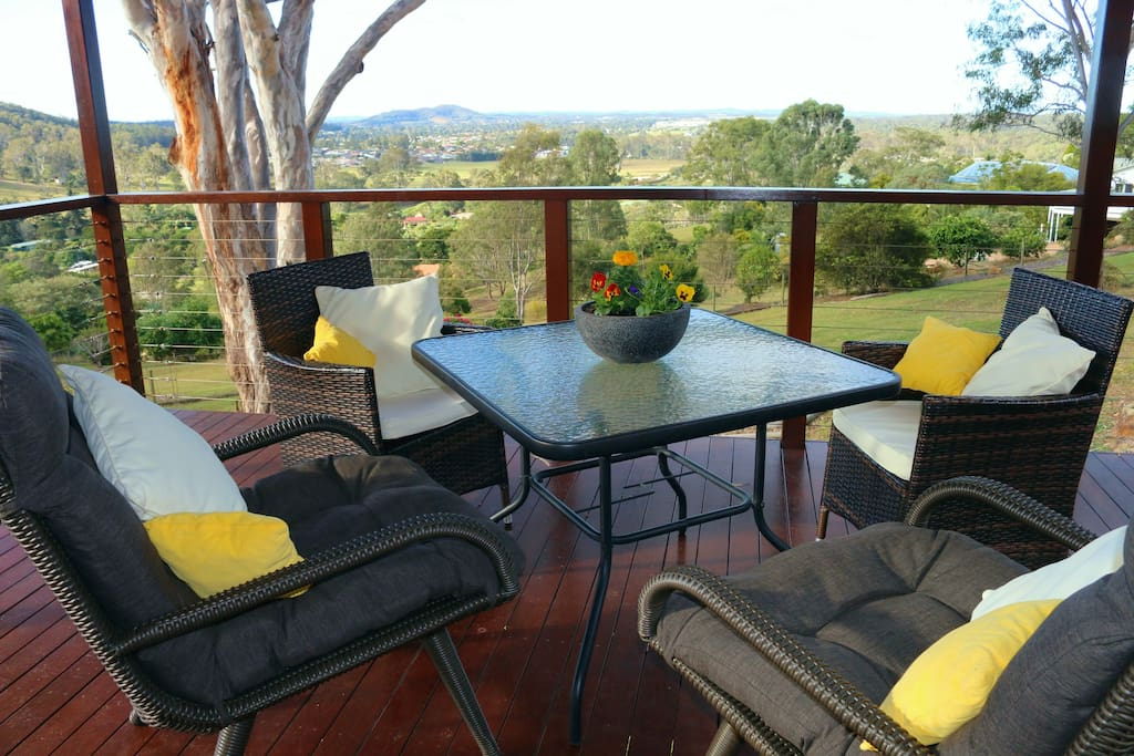 Have meals on the deck overlooking the valley view