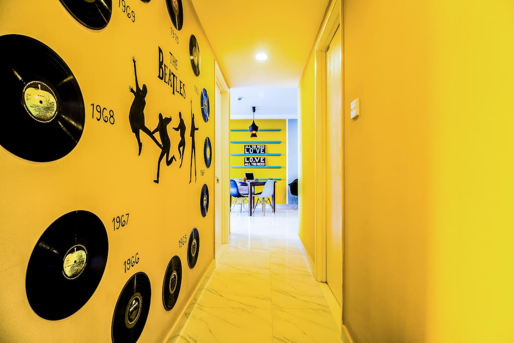 An inspiring design on the corridor to your bedroom