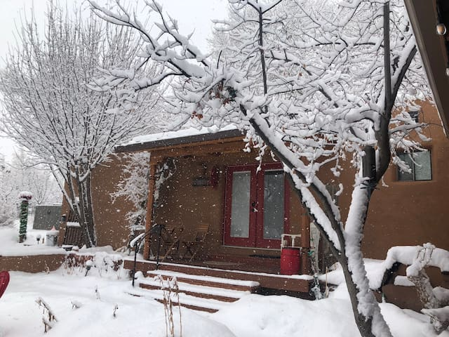The snow is falling.  It's a great time to ski in Taos!