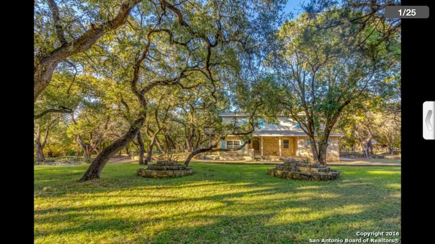 Grey Forest Cottages (The Robert Wood Home) - Helotes - Casa