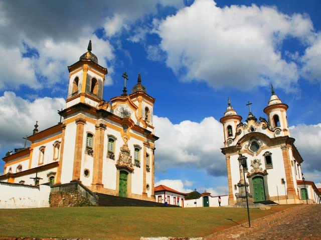ÓTIMO Quarto no centro histórico de Mariana