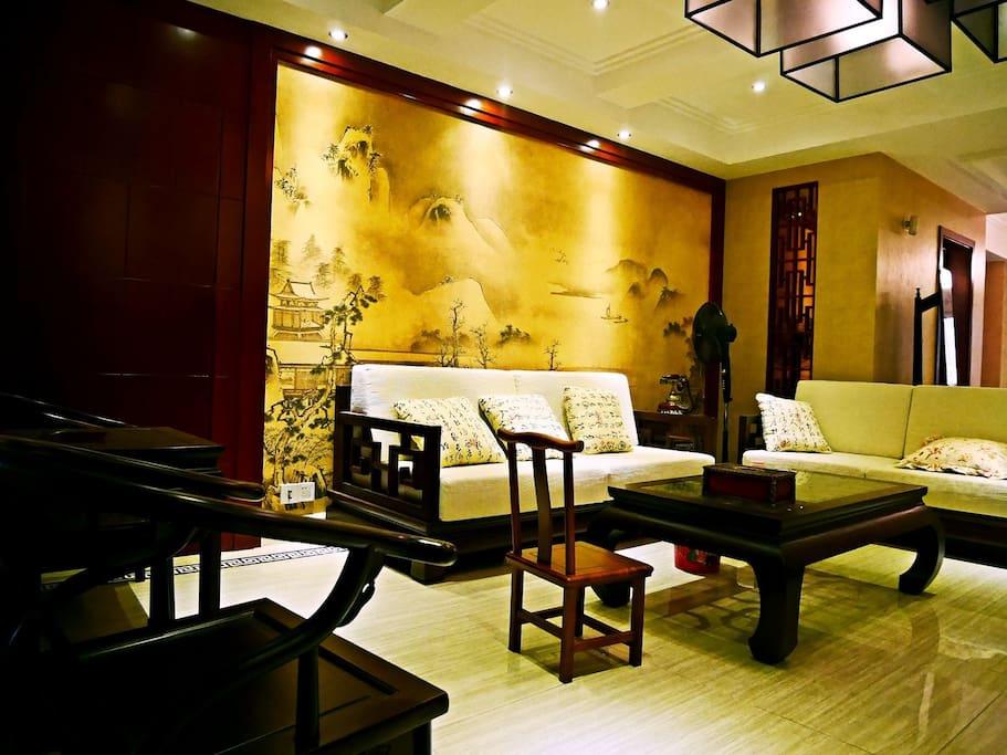 新中式客厅+客房1