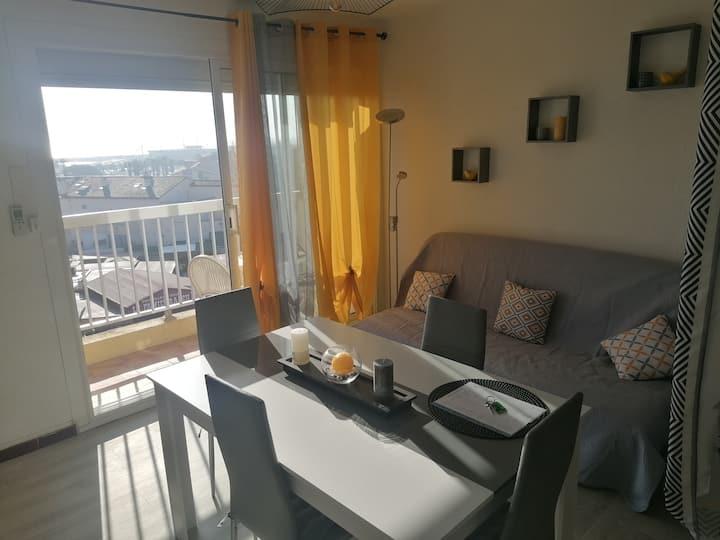 Appartement avec vue superbe sur le port