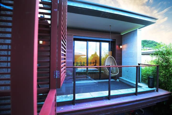 海南万宁石梅湾 艾美酒店对面 花家独栋泳池别墅 电影非诚勿扰拍摄地
