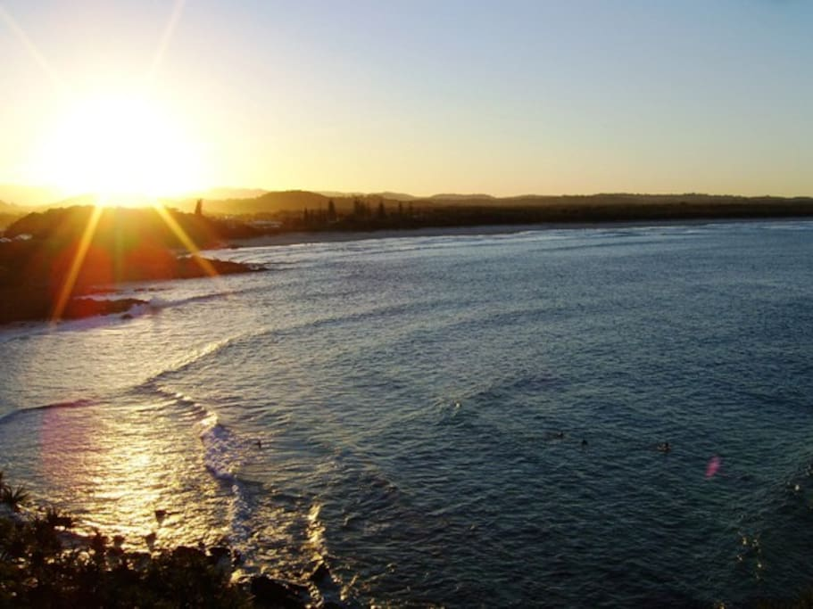 Nearby Cabarita Beach.