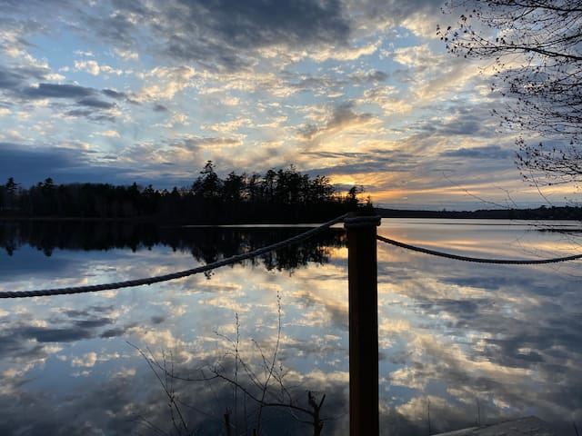 Lakeside with Loons, Bald Eagles & Amazing Sunsets
