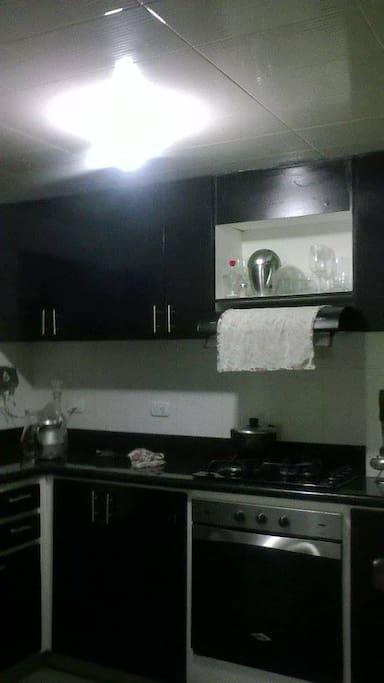 La cocina queda a tu dispocisión.