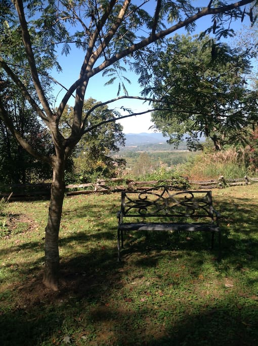 Mountain views around property with a 1/4 mile walking trail that loops around.