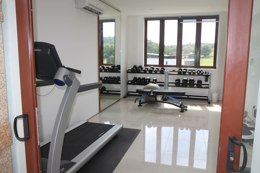 Access to gym with treadmill and free weights