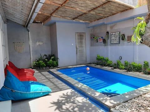 Private minimalist villa fast wifi smart TV ♡value