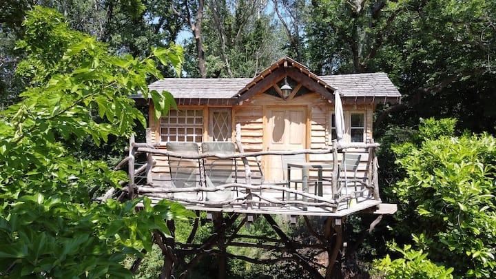 Cabane magique dans les arbres près d'Avignon !