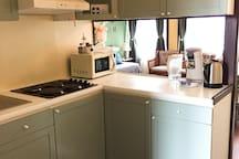 Half-open kitchen