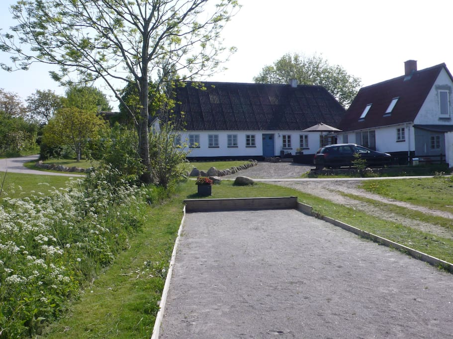 The house seen from the petanque course