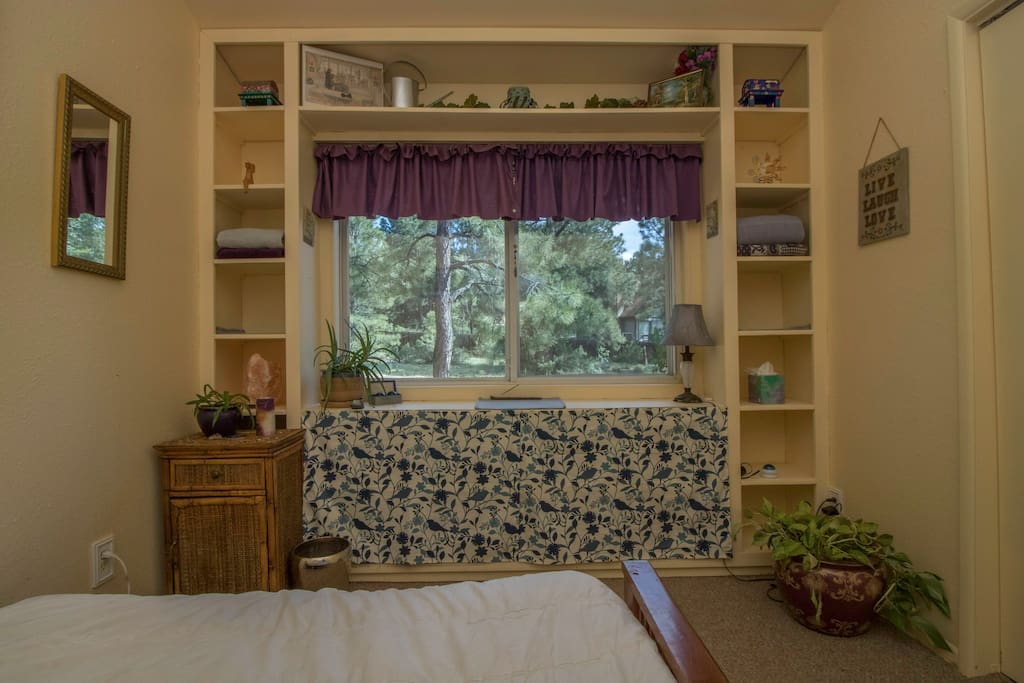 Guest room has great natural light.