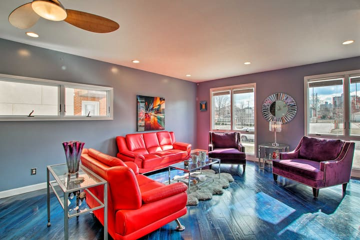NEW! Vibrant St. Louis Pad - Walk to Lindell Blvd!