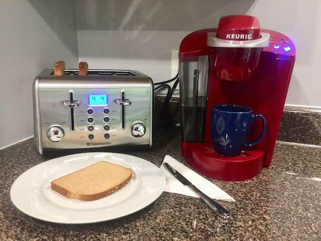 Create your favorite toasted item and hot beverage
