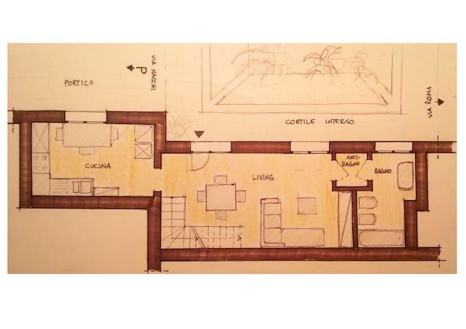 Loft in centro storico - Reggio Emilia - Apartamento