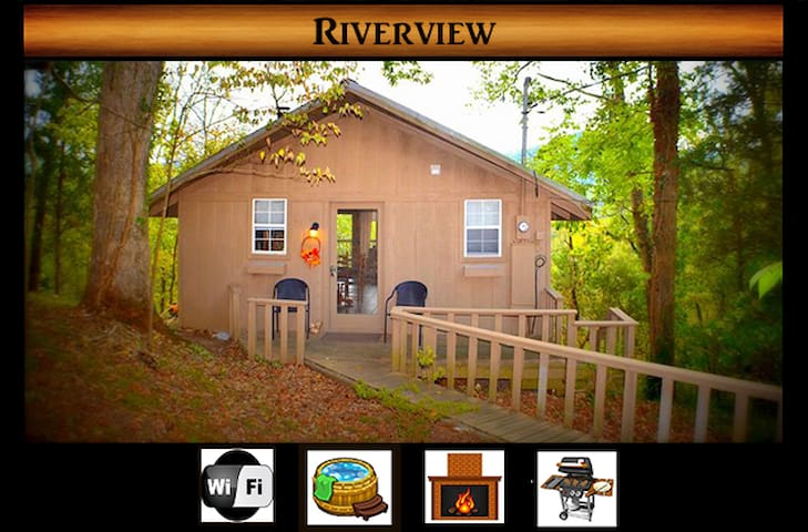 Riverview \ Secluded \ River View/Access \ Hot Tub \ WiFi\Gas Fireplace