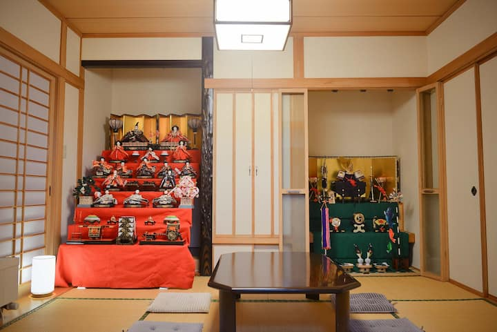 札幌市中心双层别墅 《独立大和室》带锁独立房间 榻榻米 入住3位 宽敞共用空间 步行3分到地铁菊水站