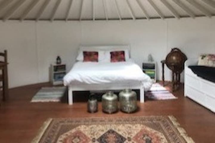 Apothecary, the herbal retreat yurt.