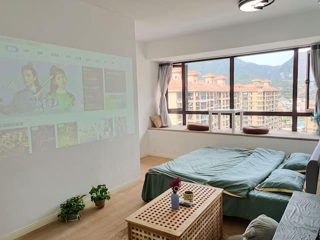 【2】温州大学城/100寸投影/特色暖居