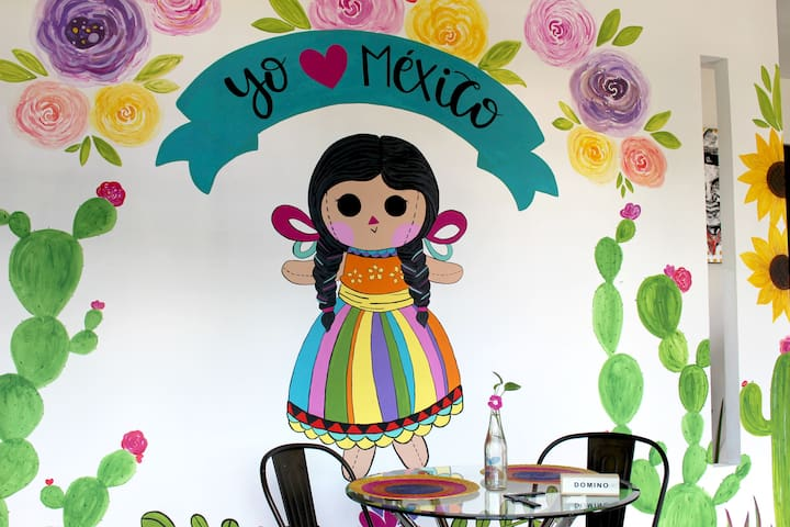 ღ lovely Mexican studio ღ Limpio y Cómodo.
