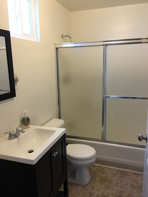 Bathroom shared with 2 other rooms