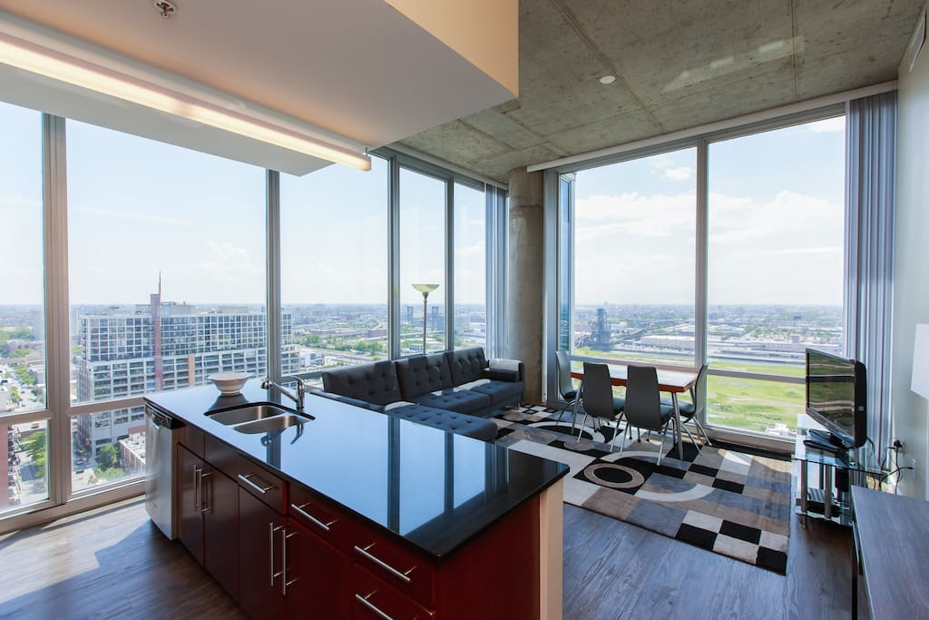 2 Bedroom Penthouse South Loop Downtown 2206 Condominiums For Rent In Chicago Illinois
