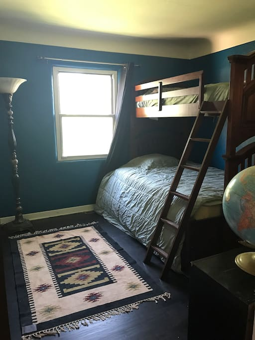 Guest bedroom from closet view