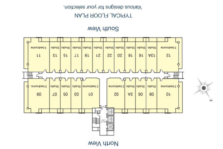 unit 21-22 , closest unit with the lift
