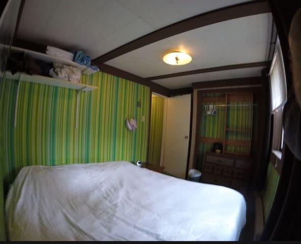 Bedroom one has a Casper king bed.