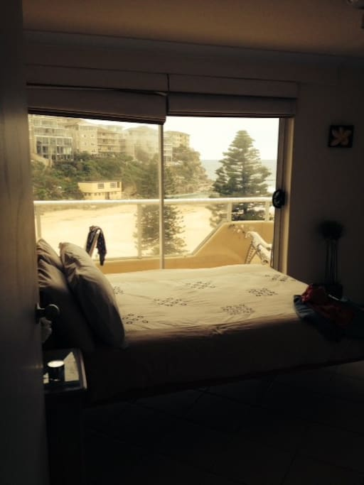 Master Bedroom - overlooking Manly Surf Club and Beach
